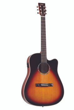 TASMAN TA300-CE CUTAWAY ACOUSTIC ELECTRIC W/CASE