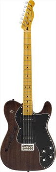 Fender Modern Player Telecaster Thinline Deluxe Black Transparent