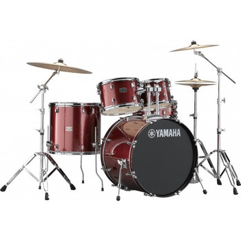 Yamaha Rydeen Euro Drum Kit Burgundy Glitter
