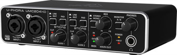Behringer U-Phoria UMC204HD 2-in/4-out Audio Interface