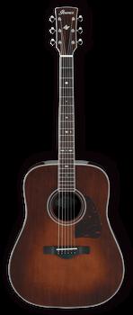 Ibanez AVD10 BVS Artwood Vintage Thermo Aged Guitar Brown Violin Sunburst