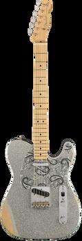 Fender Brad Paisley Roadworn Signature Telecaster MN Silver Sparkle