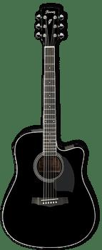 Ibanez PF15ECE BK Acoustic/Electric Guitar Black