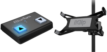 IK Multimedia Tablet Page Tuner Bundle with iKlip Xpand and iRig BlueTurn