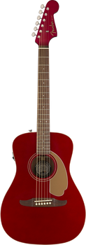 Fender California Series Malibu Player Candy Apple Red