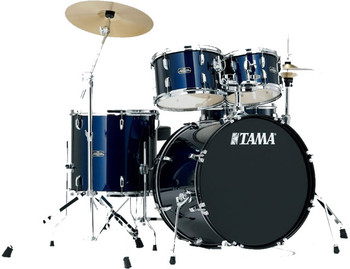 Tama Stagestar SG52KH5C DB 5-Piece Drum Kit Dark Blue with Cymbal Set