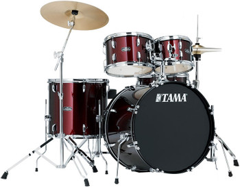 Tama Stagestar SG52KH5C WR 5-Piece Drum Kit Wine Red with Cymbal Set