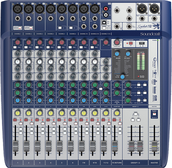 Soundcraft Signature 12 Analogue Mixer with USB & Effects