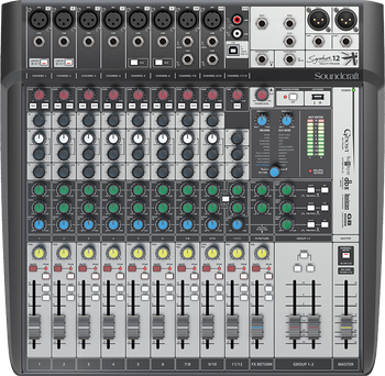 Soundcraft Signature 12 MTK Analogue Mixer with USB Multitrack & Effects