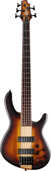 Cort Artisan C5 Plus ZBMH OTAB 5-String Bass Open Pore Tobacco Burst