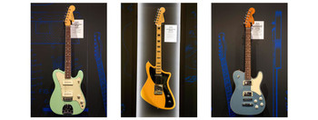 (L to R) The Jazz Tele, The Meteora, The Troublemaker Tele