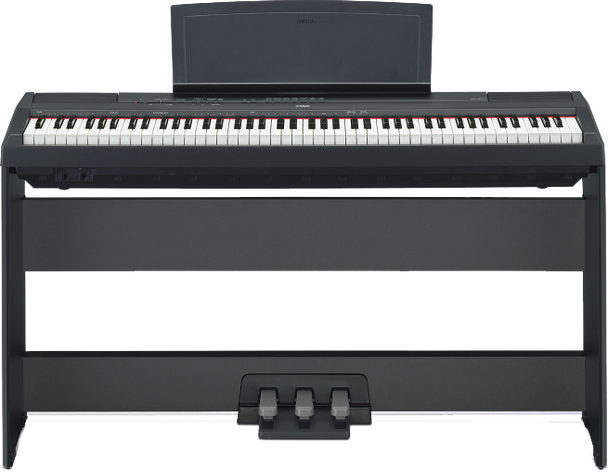 Yamaha P115 with optional L85 Stand and LP5 pedals.
