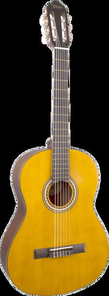 Valencia VC203H 3/4 Hybrid/Thin-Neck Classical Guitar Antique Natural