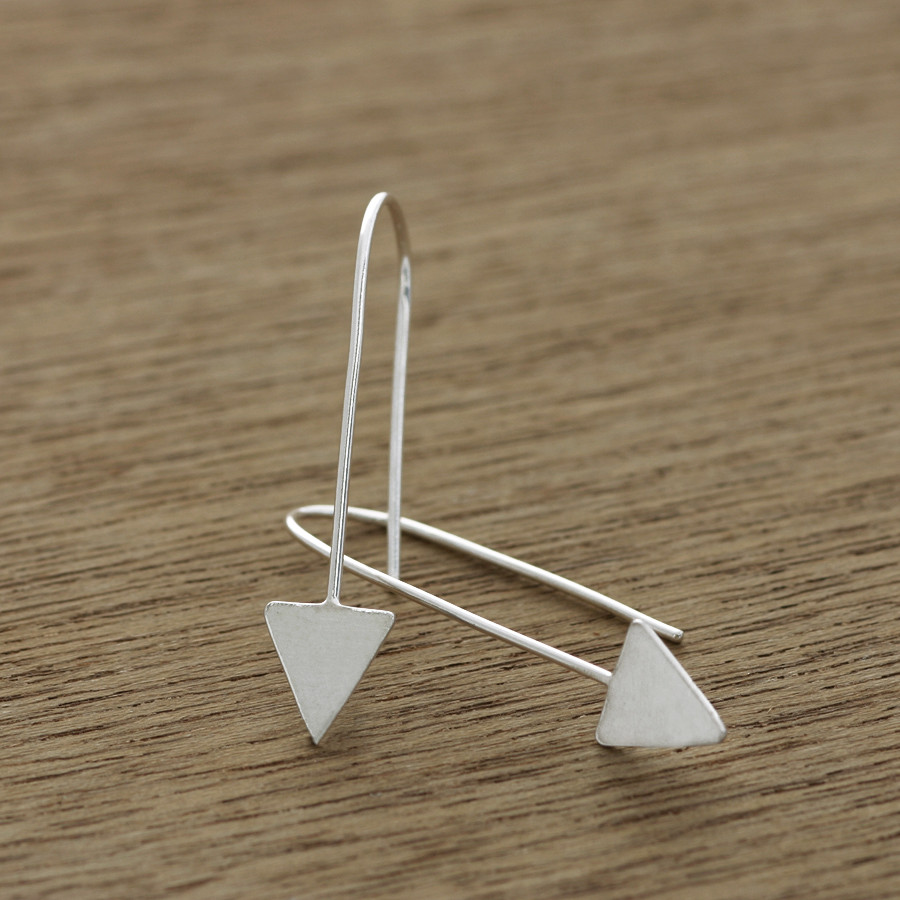 Spear head earrings