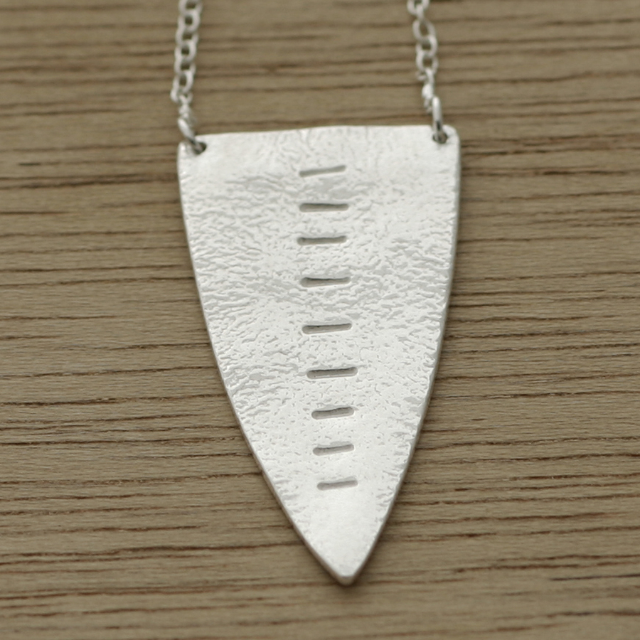 Tribal shield necklace