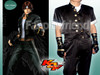 The King of Fighters Cosplay, Kyo's Black Silk and Leather Uniform set