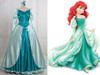 Disney The Little Mermaid Cosplay Princess Ariel Costume Outfit