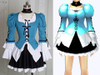 Special Offer: Gothic Elegant Lolita Costume Outfit* Lady 70 in Blue+ White Instant Shipping