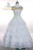 Floor Length (White Ver.) wearing with corset SKU: Y00018  choker SKU: P00502