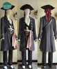 Pirates of the Caribbean (Movie) Cosplay, Captain Jack Sparrow Costume Outfit Set