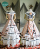 Dress+ Skirt Set, with petticoats inside look