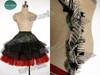 Alice in Wonderland (Tim Burton) Cosplay Alice Red Kingdom Costume Outfit