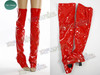 Optional item: a pair of long PVC spats(boot covering) in red $25.00