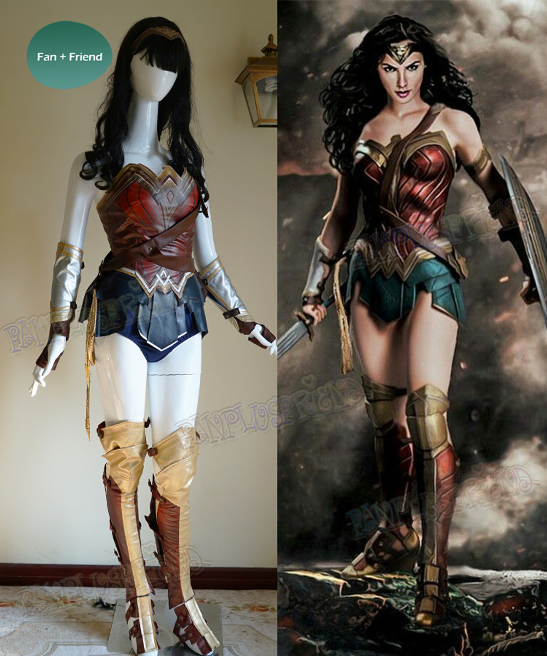 Wonder Woman Cosplay, Adult Women Leather Armor Corset -5031
