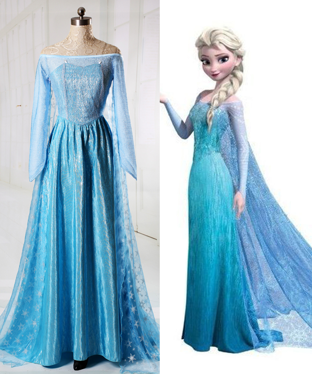 sc 1 st  Fanplusfriend Cosplay & Disney Frozen ( Movie) Cosplay Elsa Costume Adult Women Outfit