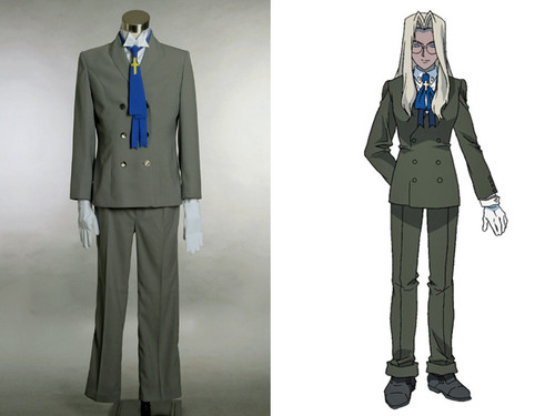 Integral Fairbrook Wingates Hellsing Cosplay, Sir Integra Costume