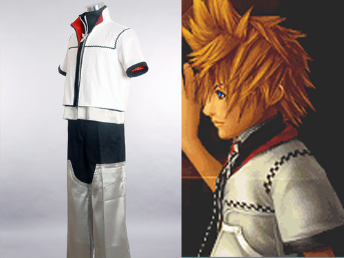 Kingdom Hearts: Chain of Memories Roxas Cosplay, 4 pcs Costume Set