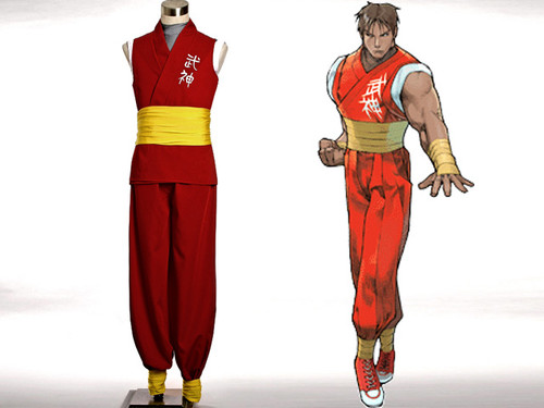 Street Fighter Alpha Cosplay, Guy Costume Set