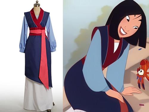 Disney Mulan Cosplay, Mulan Costume Outfit