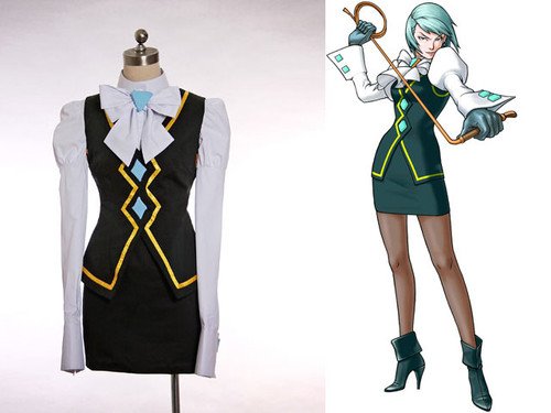 Phoenix Wright: Ace Attorney Cosplay, Franziska von Karma Outfit Costume