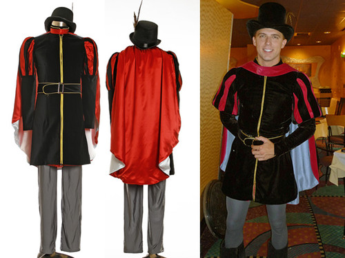 Disney Sleeping Beauty Cosplay, Prince Phillip Costume Renaissance Italian Doublet Set