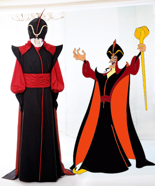 Aladdin (Disney) Cosplay Jafar Costume Set