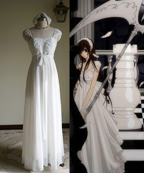 Vampire Knight Cosplay, Yuki Cross / Yuki Kuran Pure White Maxi Dress Costume