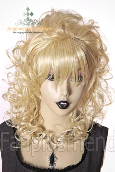 Last Chance: Gyaru&Lolia Princess GAL:Huge Hime Curls Bouffant Long Wig*Blonde