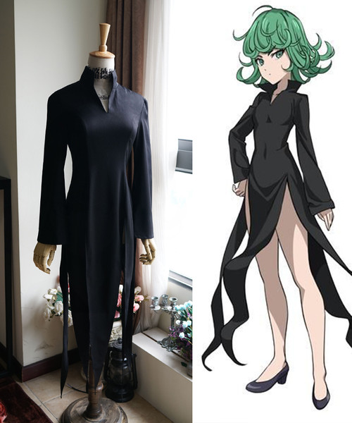 One Punch Man Cosplay, Terrible Tornado Black Dress Costume