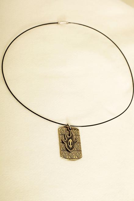 Gothic Flame Double Pendants Necklace (BLEACH)