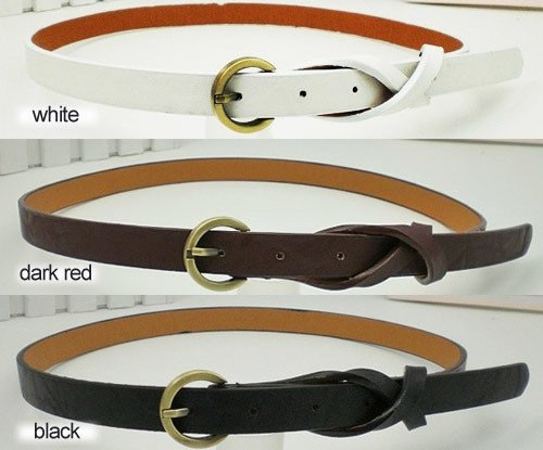 Gothic Fake Leather Thin Waist Belt