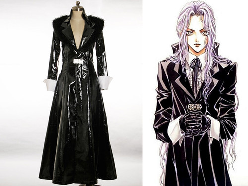 Elegant Gothic Trench Coat Angel Sanctuary Cosplay Rosiel Costume