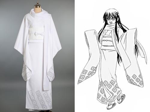 Nurarihyon no Mago Cosplay, Tsurara Oikawa (Yuki Onna) Costume Kimono Set