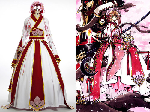 Tsubasa Chronicle Cosplay Sakura Costume Kimono Gown Set