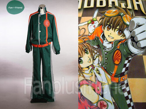 Tsubasa Chronicle Cosplay,Syaoran Pilot Uniform Costume Set