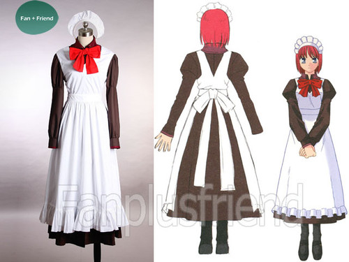 TYPE-MOON, Tsukihime Cosplay, Hisui Maid Costume Set