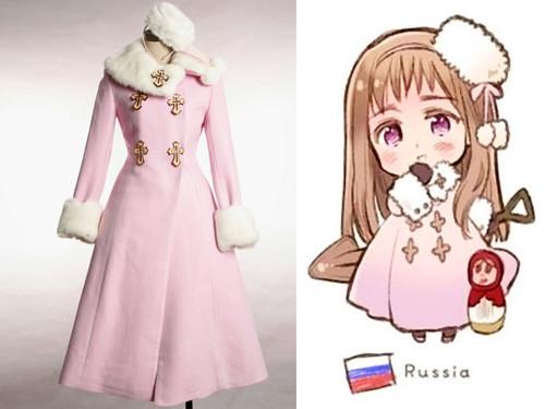 Ivan Braginsky (female, Russia), APH Hetalia, Axis Powers, Fine Wool Coat