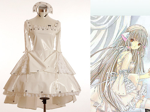 Chobits cosplay, Chii White Freya Costume*3pcs