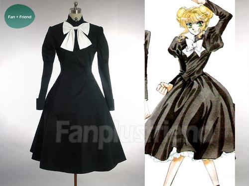 Clamp Campus Detectives Cosplay, Elegant Gothic Lolita One Piece School Uniform Dress