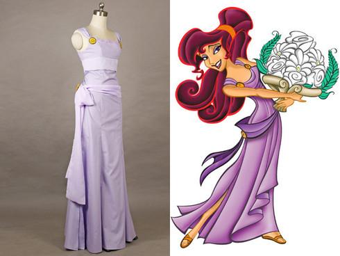 Disney Hercules Cosplay Meg Megara Costume Dress